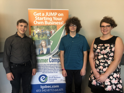 North Grenville Summer Company participants, left to right: Josh Gilbey, Mark Gilpin, Katie Gilpin