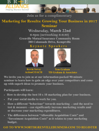Marketing for Results: Growing Your Business in 2017 Seminar